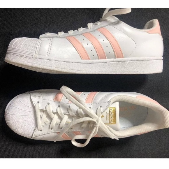 adidas superstar white pink